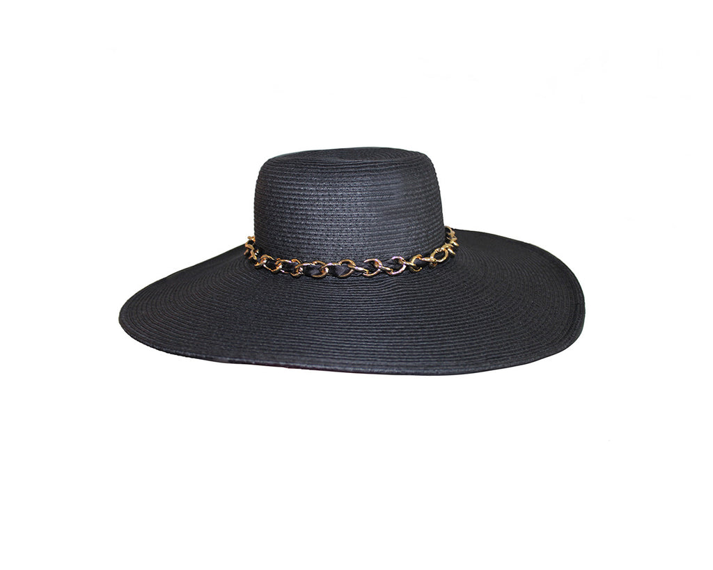 Black Resort Hat - The Cannes Hat