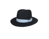Faux Wool Black Panama Style Hat - The Fifth Avenue