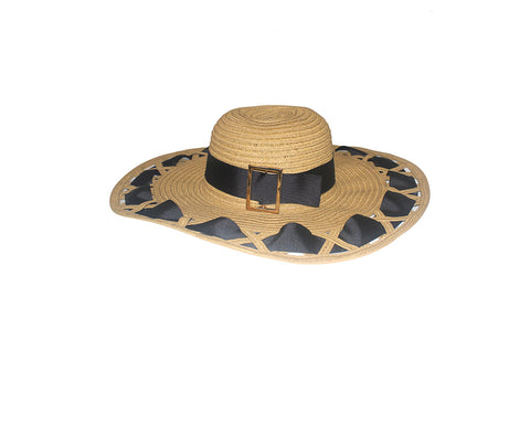 Sun Hat With Gold Buckle - The Santorini