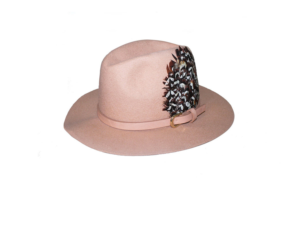 Cream Faux Wool Fedora Felt Hat - The Soho