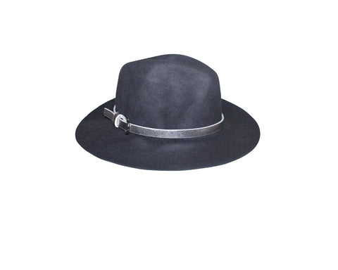 Gray Faux Wool Panama Style Hat - The London