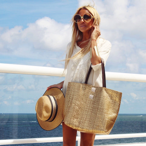 Gold Summer Bag - The St. Tropez