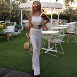 White & Silver Jumpsuit - The Bel Air