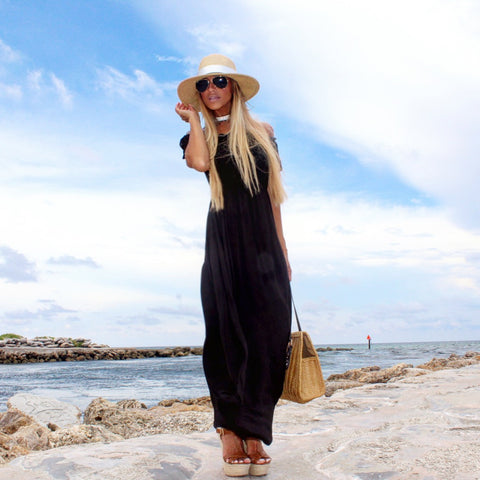 Black Off-Shoulder Dress - The Milan