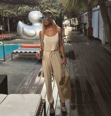 Blush Jumpsuit - The Palm Springs