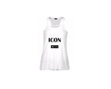 White Racerback Tank Top - ICON