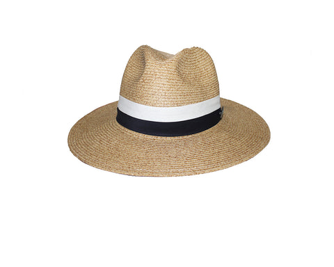 Natural Tan Color Panama Style Sun Hat - The Monte Carlo