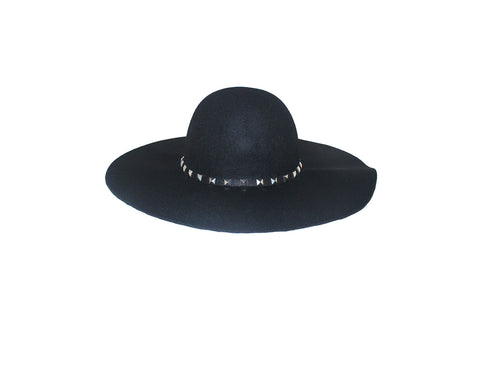 Faux Wool Black Floppy Style Hat - Ms. Moss