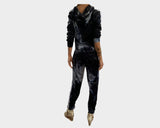 Moon Blue Velvet Jog Suit - The Malibu