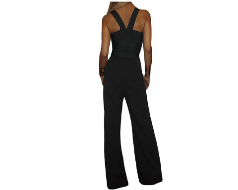 Black & Gold Jumpsuit - The Park Avenue