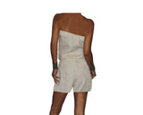 Dusty cream 100% linen jumpsuit- The Rodeo Drive