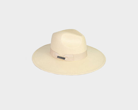 Dove White Panama Style Felt Hat - The Aspen