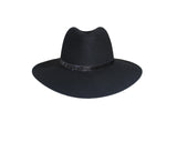 Black 100% Wool Panama Style Hat - The Park Avenue