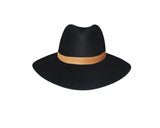 Black and camel Panama Style Hat - The Bond Street