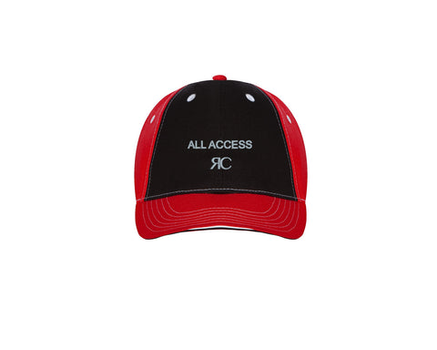 Red & Black Baseball Cap - Unisex - ALL ACCESS