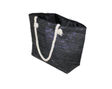 Black and Silver Summer Bag - The French Riviera