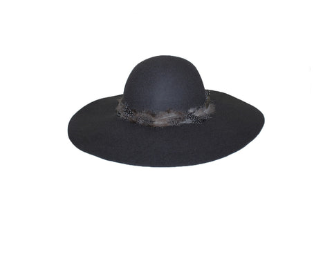 Black Floppy Style Hat - The Vienna