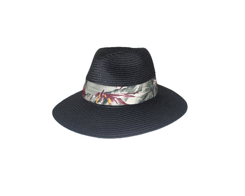 Double Shade Beige & White Panama Style Sun Hat - The Avenue Montaigne