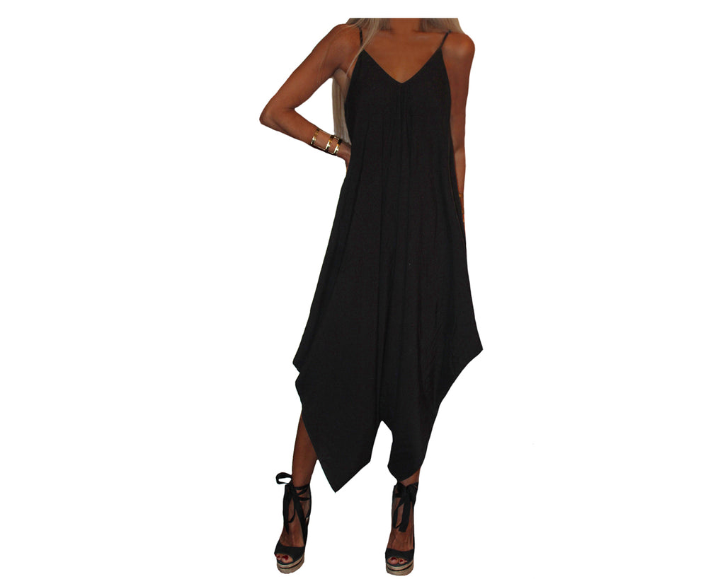 Black Jumpsuit - The Amalfi Coast