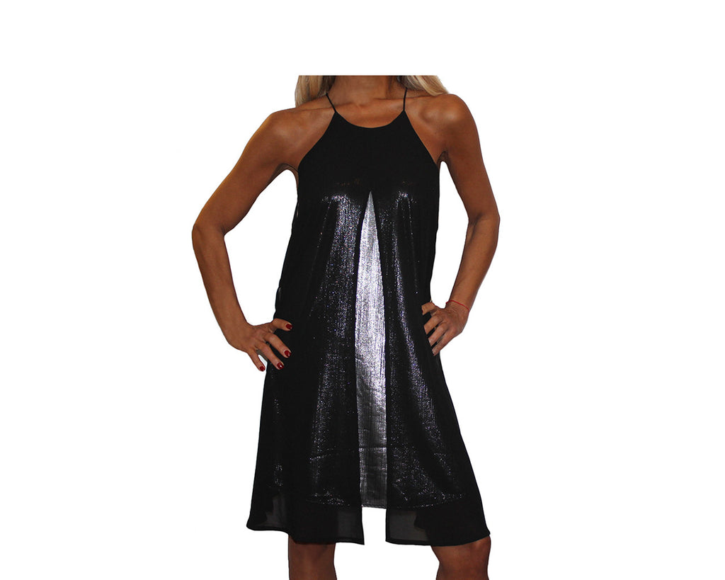 Black & Silver Metallic Dress - The Park Avenue