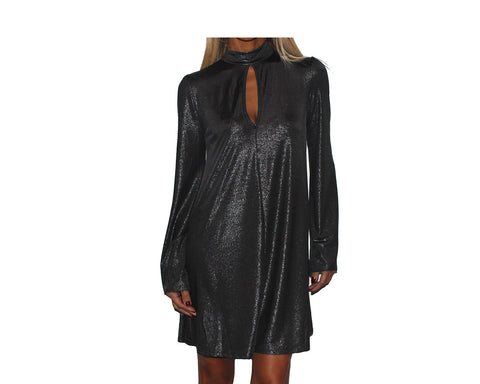 Black Metallic Dress - The Upper East Side