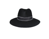 Black 100% Wool Panama Style Hat - The Upper East Side