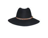 Black Wool Panama Style Hat - The London