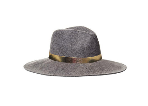 Black Wool Panama Style Hat - The Tribeca