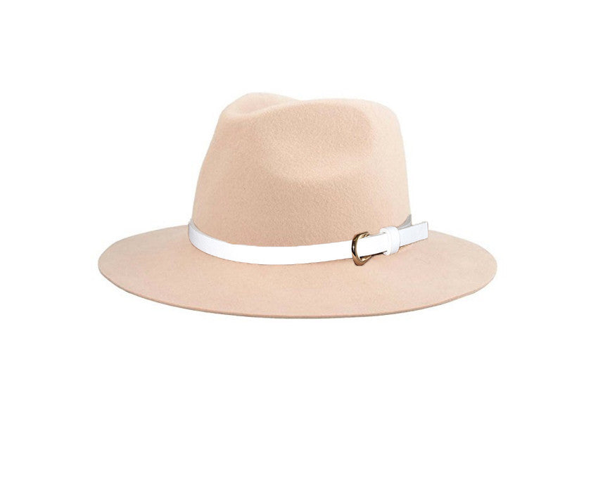 Blush 100% Wool Fedora Style Hat - The London