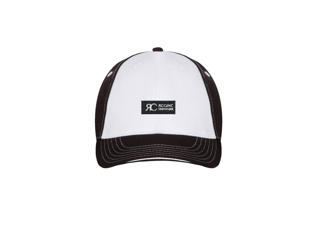 White and Black Baseball Cap - Unisex