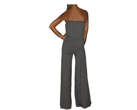 Moonlight Dark Gray Jumpsuit - The Milano