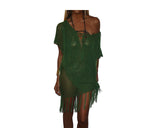Deep Green Apres-Beach Cover-up - The Palm Beach