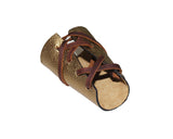 Roman Gold Leather Wrap Cuff - The Madison Avenue