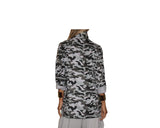 Gray Military Print Jacket- The Rodeo Drive