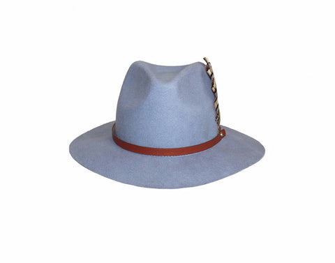 6. Heather Gray Panama Style Hat - The Bond Street