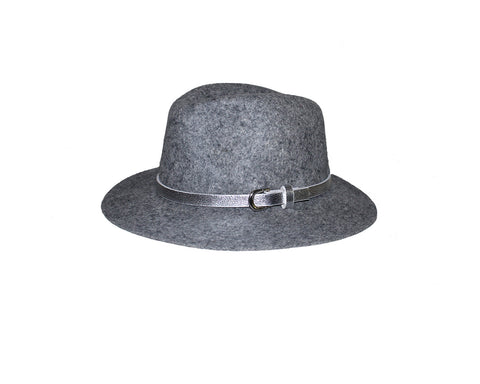 Gray Fedora Style Felt Hat - The Switzerland