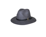 Gray Felt Fedora Style Hat - The London