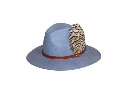 2. Blue Gray Wool Hat - The Vail