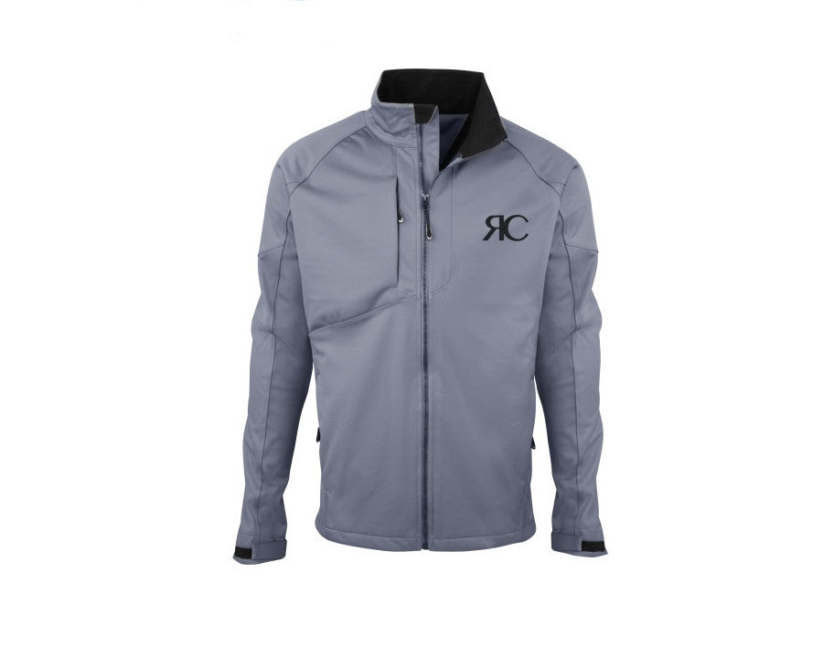 Steel Gray Mens Zipper Front Jacket - The Aspen