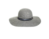 5. Heather Gray 100% Wool Felt Floppy Hat - The London