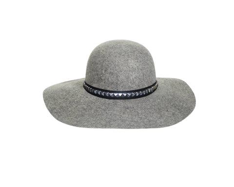 Gray Floppy Style Faux Wool Hat - The London