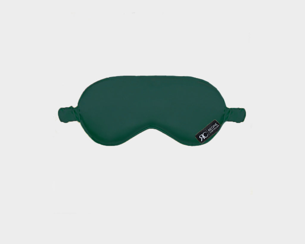 Organic Silk Deep Green Eye Mask - The Palm Springs