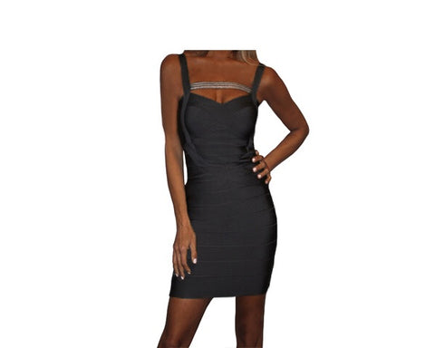 Black Body Wrap Dress - The Palm Springs