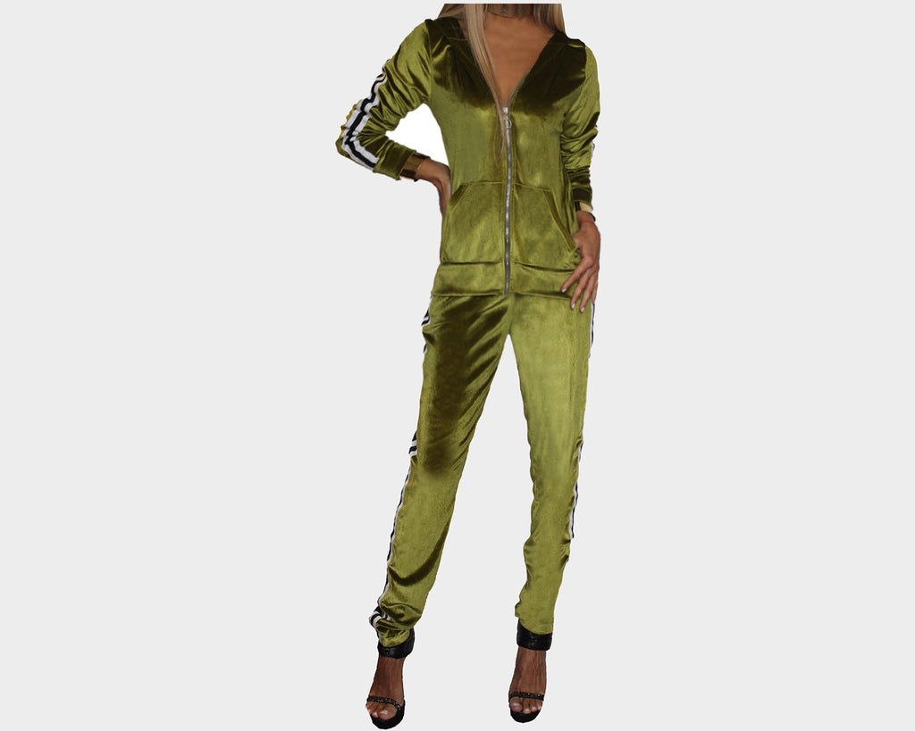 Lime Green Jog Suit - The St. Bart