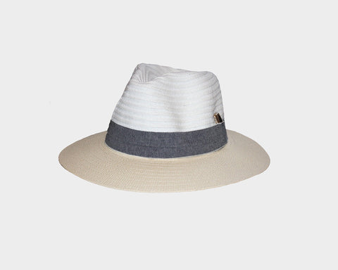 9.. Beige and White Sun Hat - The Hamptons