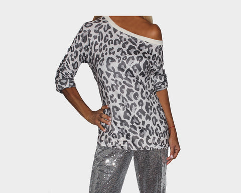 Animal Print Off the Shoulder Top  - The Bond Street