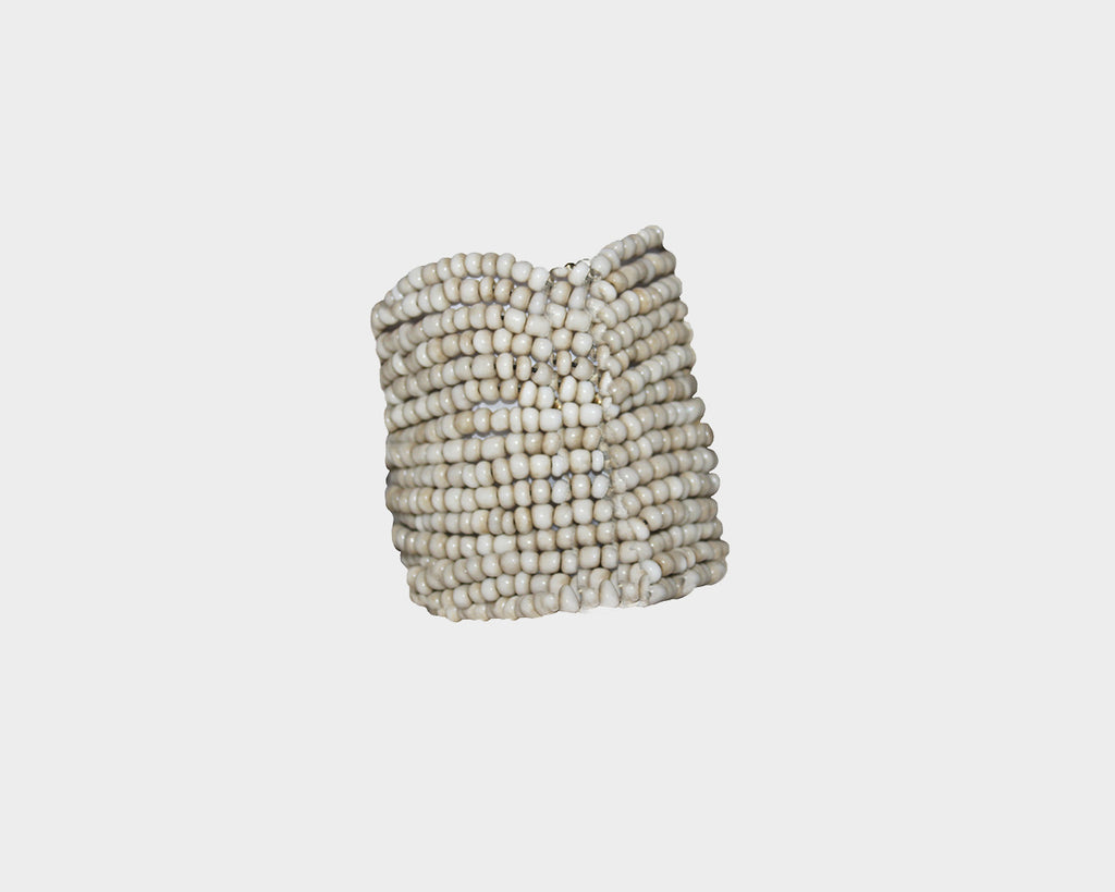 Taupe Cascade beads bracelet - The Milan