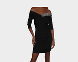 Black Knit Dress - The London