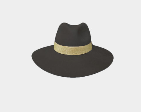 Ombré Sage and Olive Panama Style Hat - The Bond Street