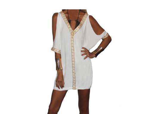 Golden Lace Turquoise Beach Cover-up - The Amalfi Coast